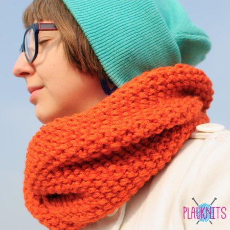 Оранжевый шарф-снуд Бестыжий