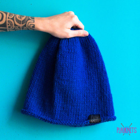 Синяя шапка мешок для дред ручной работы Осень