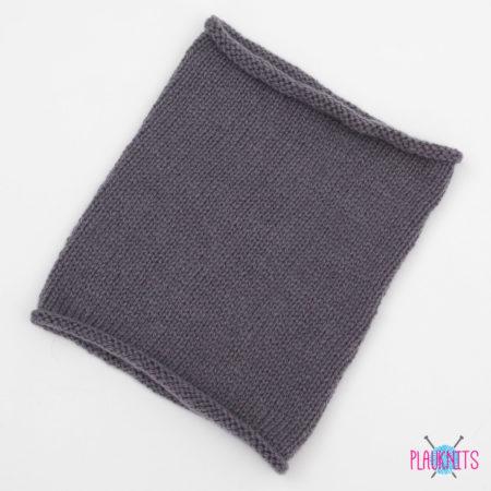 Серый вязаный шарф-снуд Чёткость линий