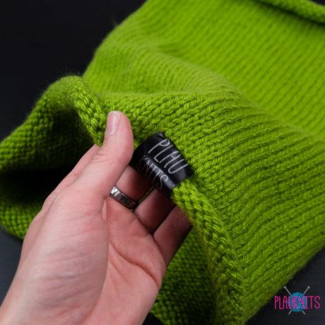 Зелёный вязаный снуд ручной работы Чёткость линий