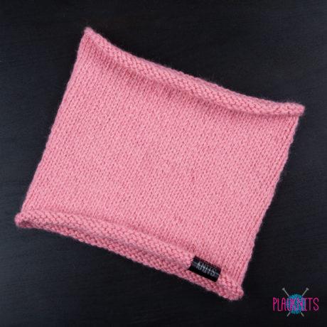 Розовая вязаная повязка для дред Экзо