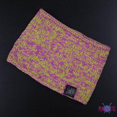 Розово-салатовая хлопковая повязка для дред ручной работы