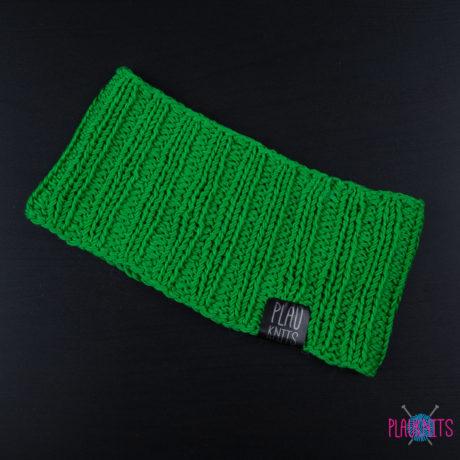 Хлопковая зелёная повязка для дред ручной работы