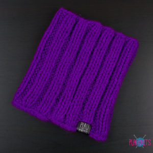 Фиолетовая вязаная повязка для дред Энтальпия