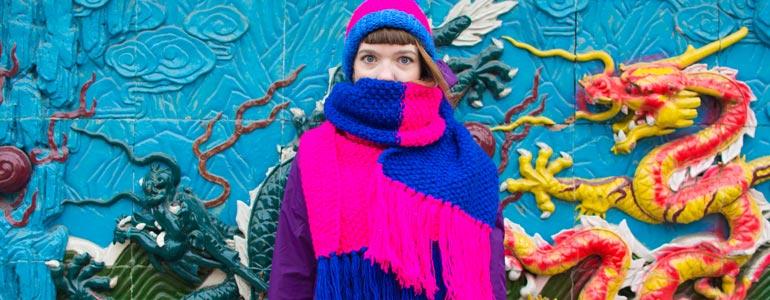 Вязаные шарфы ручной работы