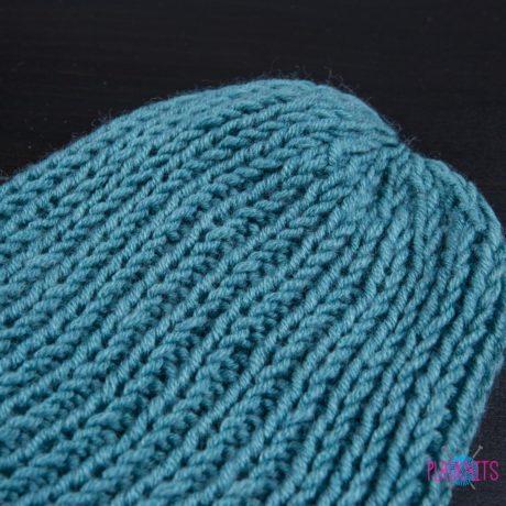 Бирюзовая вязаная шапка Симпл