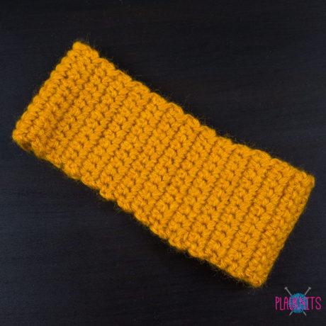Горчичная вязаная повязка для дред
