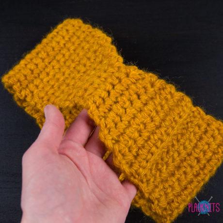Горчичная вязаная повязка для дред ручной работы