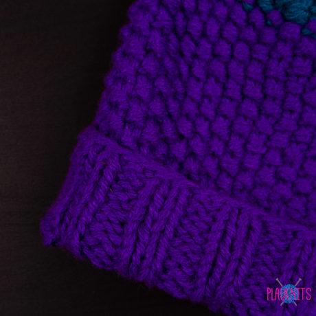 Фиолетовая свободная шапка для дредов Квант