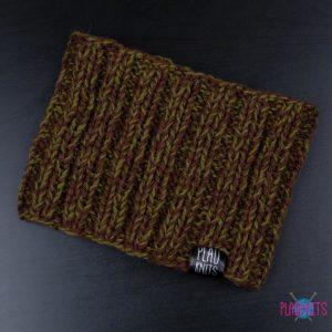 Болотно-коричневая вязаная повязка для дред