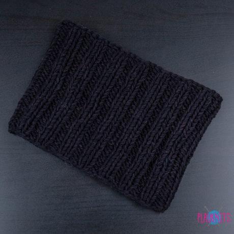 Чёрная вязаная повязка для дред Энтальпия