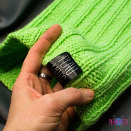 Мятная вязаная повязка для дред