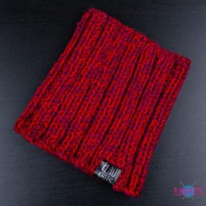 Бордово-красная вязаная повязка для дред