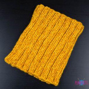 Горчично-желтая вязаная повязка для дред Энтальпия