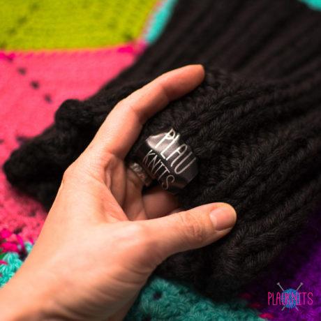 Черная толстая вязаная повязка для дред Энтальпия