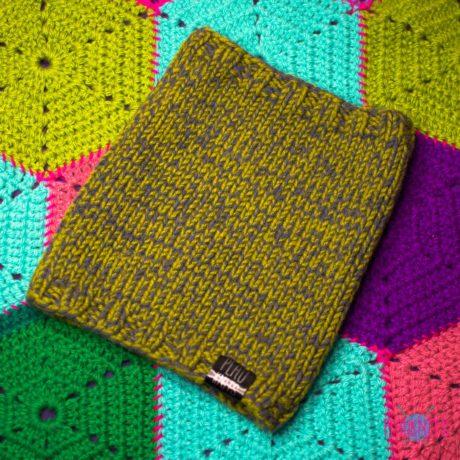 Болотная вязаная повязка для дред ручной работы