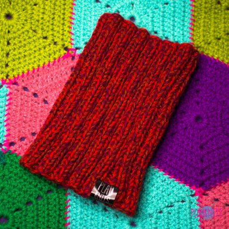 Бордово-красная вязаная повязка для дред Энтальпия