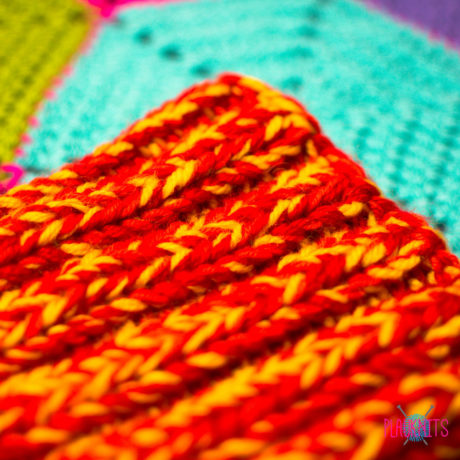Оранжево-жёлтая толстая вязаная повязка для дред Энтальпия