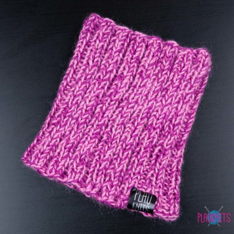 Розово-малиновая вязаная повязка для дред Энтальпия
