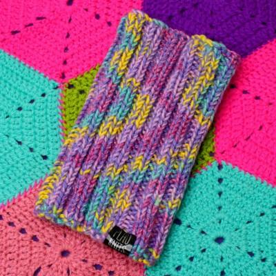 Розово-разноцветная повязка для дред