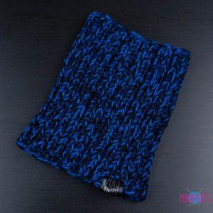 Сине-чёрная вязаная повязка для дред Энтальпия