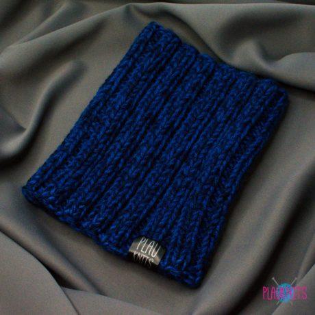 Тёмно-синяя вязаная повязка для дред ручной работы