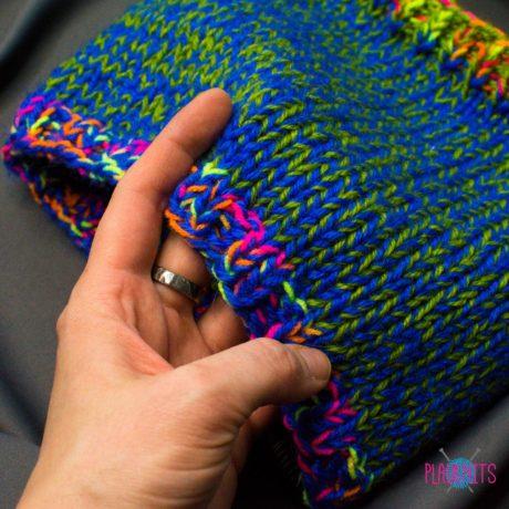 Сине-зелёная вязаная повязка для дред Литл
