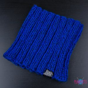Синяя вязаная повязка для дред Энтальпия