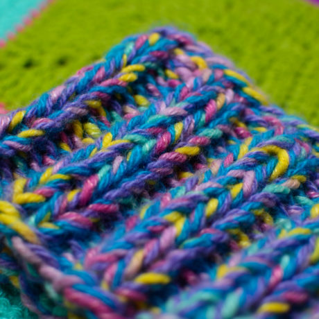 Сиренево-разноцветная толстая дредошапка повязка для дред литл Энтальпия