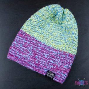 Цветная вязаная шапка мешок для дредов