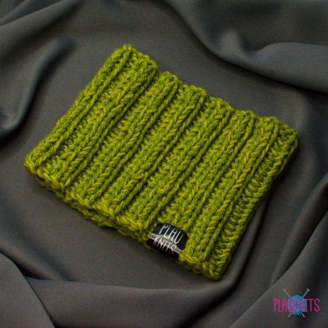 Зелёная вязаная повязка для дред Литл