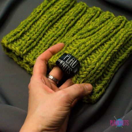 Зелёно-салатовая вязаная повязка для дред Литл